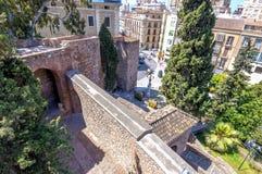 Wnętrze Alcazaba Malaga, Hiszpania obrazy royalty free