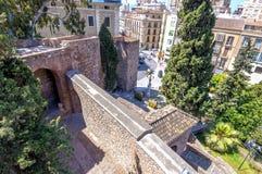 Wnętrze Alcazaba Malaga, Hiszpania fotografia royalty free