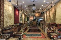 Wnętrze arabski sklep w Arabskiej ulicie, jeden sławny w mieście zdjęcia royalty free