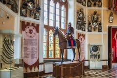 Wnętrze arsenał - parkowy pawilon w Aleksander parku Tsarsko Zdjęcie Royalty Free