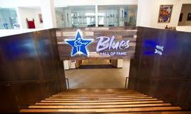 Wnętrze błękita hall of fame budynek w Memphis, TN fotografia stock