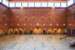 Wnętrze Błękitny Hall Zdjęcie Royalty Free