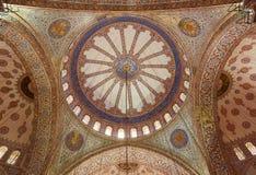 Wnętrze Błękitny meczet obrazy royalty free