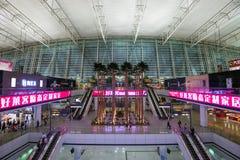 Wnętrze Baiyun lotnisko międzynarodowe, Chiny Zdjęcie Royalty Free