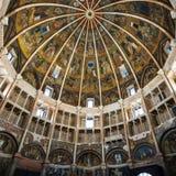 Wnętrze baptistery w Parma mieście Zdjęcia Stock