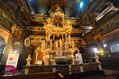 Wnętrze barokowy kościół pokój w Swidnica Zdjęcie Royalty Free
