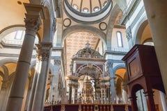 Wnętrze bazylika Święty duch Santo Spirito w F Zdjęcia Royalty Free