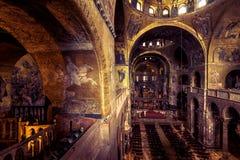 Wnętrze bazylika Di San Marco w Wenecja, Włochy Zdjęcie Stock