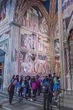 Wnętrze bazylika Santa Croce Święty krzyż w Florencja, Ja Obraz Royalty Free