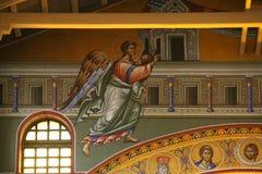 Wnętrze bazylika St Dimitri, Saloniki, Grecja zdjęcie royalty free