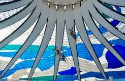 Wnętrze Brasilia katedra zdjęcie royalty free