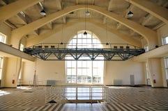 Wnętrze Budować Hall, radio Kootwijk holandie zdjęcie stock