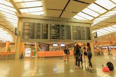 Wnętrze Changi lotnisko Singapur Changi lotnisko, jest początkowym cywilnym lotniskiem dla Singapur Fotografia Stock
