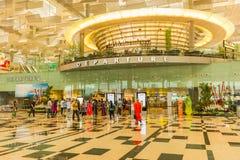 Wnętrze Changi lotnisko Singapur Changi lotnisko, jest początkowym cywilnym lotniskiem dla Singapur Zdjęcia Royalty Free