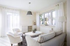 Wnętrze comfy żywy pokój Fotografia Royalty Free
