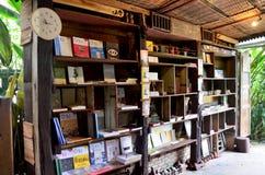 Wnętrze dekoruje stary domowy książkowy sklep Zdjęcie Royalty Free