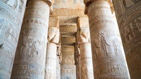 Wnętrze Dendery świątynia lub świątynia Hathor Egipt Dendera, Denderah, jest miasteczkiem w Egipt Dendera Świątynny kompleks, jed obrazy royalty free