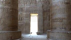 Wnętrze Dendery świątynia lub świątynia Hathor Egipt Dendera, Denderah, jest miasteczkiem w Egipt Dendery świątynia zbiory