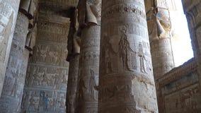 Wnętrze Dendery świątynia lub świątynia Hathor Egipt Dendera, Denderah, jest miasteczkiem w Egipt Dendery świątynia zbiory wideo