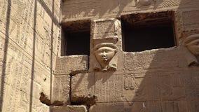 Wnętrze Dendery świątynia lub świątynia Hathor Egipt Dendera, Denderah, jest miasteczkiem w Egipt Dendery świątynia zdjęcie wideo