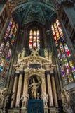 Wnętrze Duomo di Milano, Mediolan, Włochy (kopuła Mediolan) obrazy royalty free