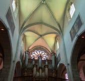 wnętrze Eglise Notre Damae De Liesse Annecy, Savoie, Francja obrazy royalty free