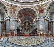 Wnętrze Esztergom bazylika, Węgry fotografia stock