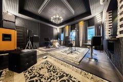 Wnętrze fachowy studio nagrań z musicalem ja Obraz Royalty Free