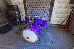 Wnętrze fachowy studio nagrań z musicalem ja Obrazy Royalty Free