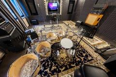 Wnętrze fachowy studio nagrań z musicalem ja Zdjęcie Stock