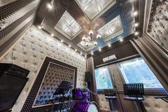Wnętrze fachowy studio nagrań z musicalem ja Obraz Stock