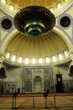 Wnętrze Federacyjnego terytorium meczet a K masjid Wilayah Persekutuan Obrazy Royalty Free