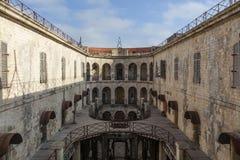 Wnętrze fort boyard w Francja, morski, Francja zdjęcie stock