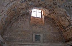 Wnętrze forum Kąpać się, Pompeii (tepidarium) Fotografia Stock