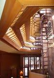Wnętrze, Frank Lloyd Wright budynku Wingspread, Racine Wisconsin obraz royalty free