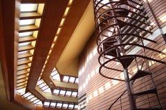 Wnętrze, Frank Lloyd Wright budynku Wingspread, Racine Wisconsin zdjęcie royalty free