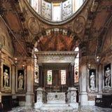 Wnętrze genua katedralny kościół - katedra święty Lawrance Zdjęcia Royalty Free