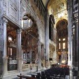 Wnętrze genua katedralny kościół - katedra święty Lawrance Fotografia Stock