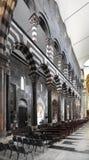 Wnętrze genua katedralny kościół - katedra święty Lawrance Obraz Royalty Free