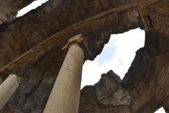 Wnętrze Grands Therme skąpania dom Hadrian ` s willa, Tivoli zdjęcie stock