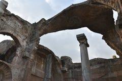 Wnętrze Grands Therme skąpania dom Hadrian ` s willa, Tivoli obraz stock