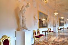 Wnętrze Grecka sala w wiośnie Gatchina kumpel Obrazy Royalty Free