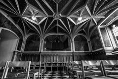 Wnętrze grodowy kościół Stary kasztel Zdjęcia Stock
