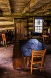 Wnętrze historyczna beli kabina w niebo łąk stanu parku, VA Obrazy Stock