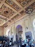 Wnętrze historycznego budynku zjednoczenia staci dzień Kansas obrazy stock