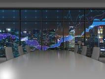 Wnętrze i wykres Obrazy Stock