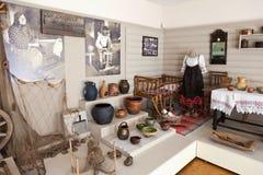 Wnętrze jeden sala muzeum Lokalna historia Obraz Stock