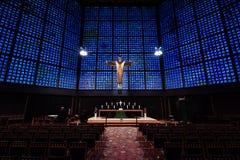 Wnętrze Kaiser Wilhelm pomnika kościół Obrazy Stock
