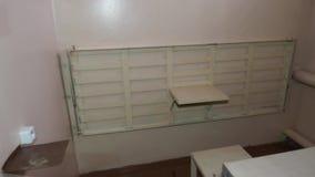 Wnętrze kary komórka Rosyjska więzienna kolonia, więzienie zbiory wideo