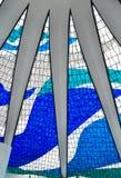 Wnętrze katedra Brasilia obraz stock